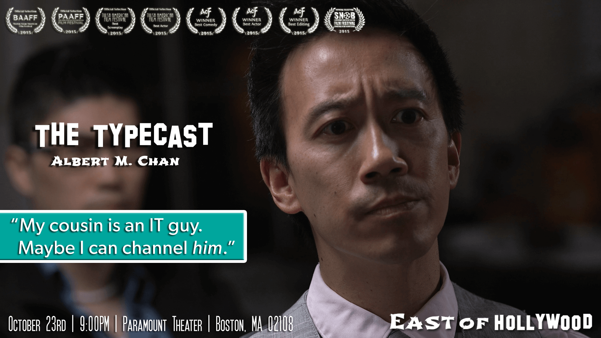 East Coast Premiere of EAST OF HOLLYWOOD at the Boston Asian American Film Festival